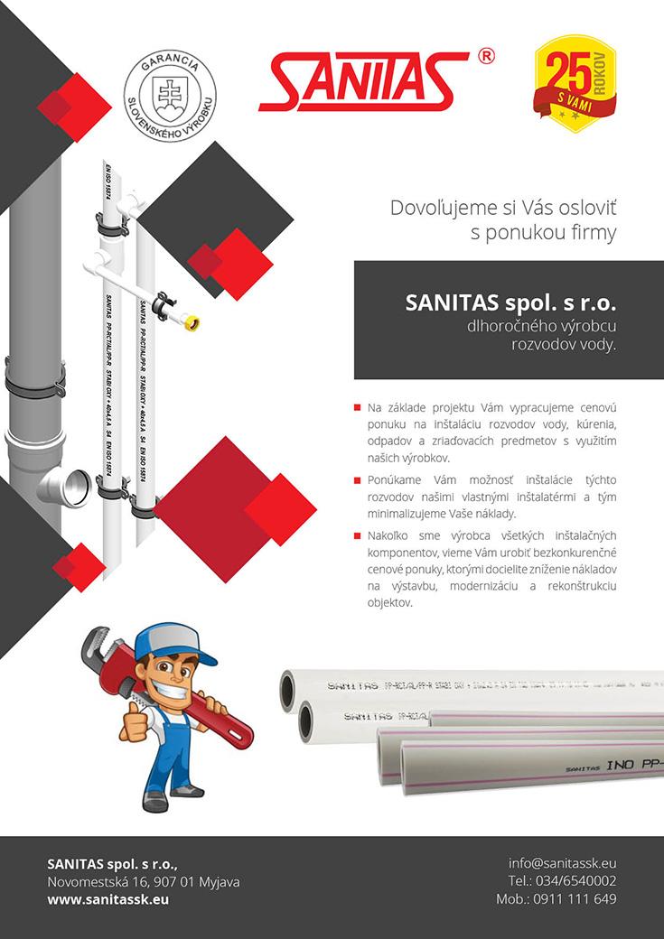 Rozšírenie služieb spoločnosti Sanitas