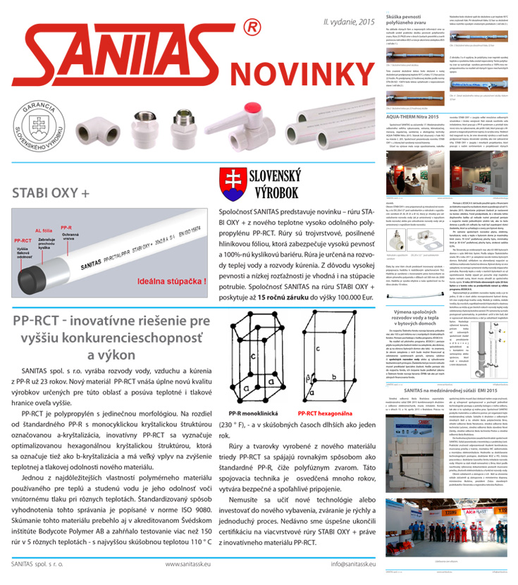 SANITAS Novinky II.