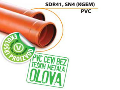 Sanitas Ecological pipe SDR 41, SN4 (PVC)