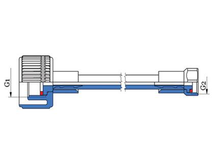 Spojovacia hadica pre splachovač