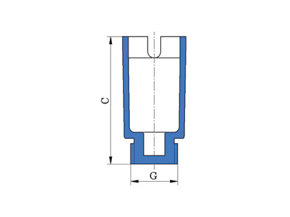 End plug for wall-mounted elbow (long)